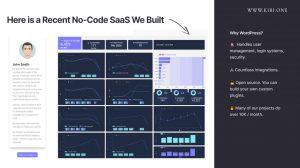 nocode SaaS Example